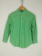 BNWT Ralph Lauren Men/'s Shirt a Manica Corta Tessuto Increspato a Strisce Viola Custom Fit