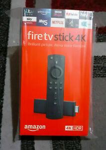 Amazon Fire TV Stick 4KHD with Alexa Voice Remote -- Brand New