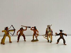Bullyland Indianer Figuren Sammlung, 5 Stück