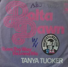 "7"" 1972 GERMAN PRESS RARE VG++! TANYA TUCKER Delta Dawn"