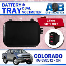 AOB DUAL BATTERY TRAY VM for Holden Colorado RG 2012-2016 2017 2018 2.8L Black