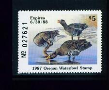 Oregon State Duck Stamp 1987 $5.00 at face value