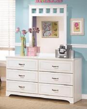 white dresser and mirror set cottage design bead board kids storage drawers