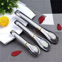 Stainless Steel BBQ Salad Ice Tong Food Cooking Kitchen Serving Gadget Tool、New