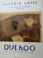 Rare Affiche d'exposition Duthoo à la Galerie Ariel Paris 1959