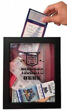 Ticket Shadow Box - Memento Frame - Large Slot on Top of Frame - Memory Box S...