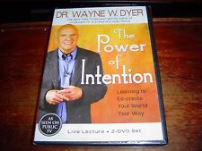 """NEW"" 2 DVD SET The Power of Intention by DR. WAYNE DYER"