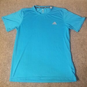 Adidas Mens T Shirt Adult Large Crew Neck Blue Soccer Adult climalite Bright