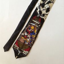 Disney Mickey & Company Mens Neck Tie Silk Mickey Mouse Donald Duck Goofy Pluto