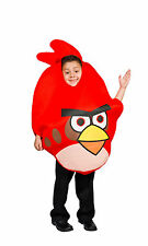 Angry Bird Costume Light up w/ pillow case Kids Unisex Red  Boys Size 5-8 S M L