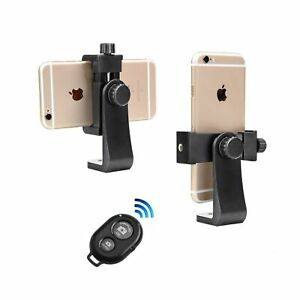 Phone Tripod Mount with Remote 360 Rotation Smartphone Holder Adapter Compati...