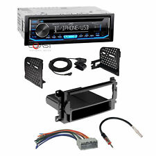 JVC Car Radio Pandora Single Din Dash Kit Harness For 04-08 Chrysler Dodge Jeep