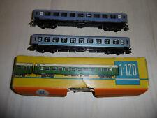 Zeuke TT 2 x D-Zug Personenwagen 2. Kl. 1 x OVP,Silverlines