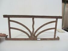 """Vintage Wrought Iron Fire Front Grate Grill Fender French Antique Old 19""""W"""