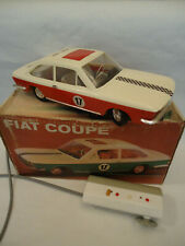 Vintage FIAT 124 Coupe Rare Red & White Car Toy Battery Remote Control + Box