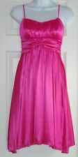 RUBY ROX WOMENS JUNIORS S PINK STRETCH EMPIRE WAIST DRESS CRUISE PARTY WEDDING