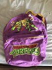 Vintage 1989 Mirage Studios Teenage Mutant Ninja Turtles Backpack purple Tmnt