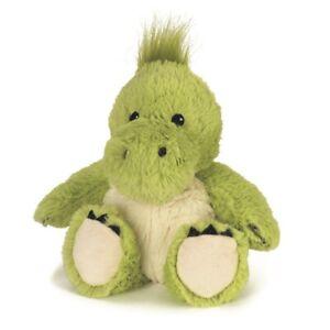 Microwavable Heat Packs Cozy Plush Soft Cuddly Toy Green Dinosaur