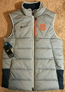$150 Syracuse Orange Nike Elite puffer vest, size Small NWT jacket