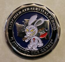 Survival  Evasion Resistance &  Escape SERE The Rabbit Air Force Challenge Coin