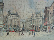 "VINTAGE ""VICTORY"" WOODEN JIGSAW PUZZLE. LONDON VIEW SERIES ""PICCADILLY CIRCUS"""