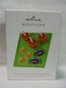 2018 Hallmark Keepsake Ornament Caramel Apple Goodness Halloween Spiders B10