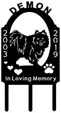 POMERANIAN Dog Pet Memorial Grave Marker Sign Cemetery Personalized Metal Art