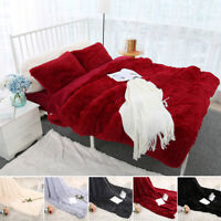Sofa Fur Blanket Flannel Blanket Solid Warm Long Shaggy Fuzzy Blanket Throw Rug