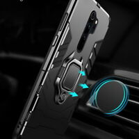 For Xiaomi Redmi Note 9S 8T 8 7 6 Pro Magnetic Kickstand Ring Holder Case Cover