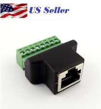 Ethernet RJ45 Female To Screw Terminal 8 Pin CCTV Digital DVR Adapter Connector