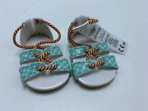 American Girl Doll Lea Clark Strappy SANDALS Shoes from the Meet Outfit