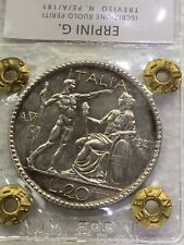 Moneta da 20 Lire LITTORE 1927 A.VI  FDC periziata Erpini Gianfranco