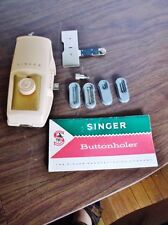 Vintage Singer Buttonholer with Accessories & Instructions, # 489500 / 489510