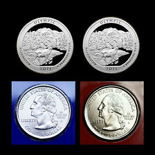 2011 P+D+S+S Olympic WA Set National Park ~ Silver & Clad Proof + PD Mint Wrap