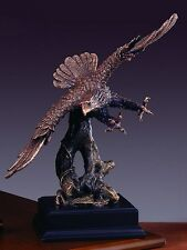 Soaring Eagle 11.5 x 14 Beautiful Bronze Statue / Sculpture Brand New