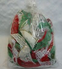 """Christmas Lace Remnant Peices Gold Silver 12"""" x 10"""" Grab Bag  Dolls Clothing NEW"""