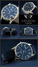 Classic Moments IP-Gold plated Cavadini DESIGNER MEN'S WATCH SAPPHIRE COATED
