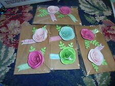 NEW Lot of Paper roses for mixed media paper arts pinks  card making flowers lot