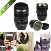 2019 NEW 24-105mm Stainless Top Lens Bottle Camera Travel Coffee Tea Mug Cup