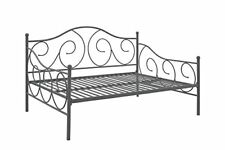 Full Size Multifunctional Metal Frame Daybed For Home Living Room Bedroom Pewter
