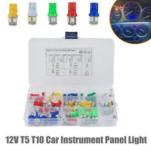 50PCS T5 T10 Trailer Car Instrument Panel Light Bulb Clusters Dashboard Lamps