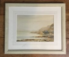 Large Original Antique Irish Seascape Painting By Grace Trench, Framed
