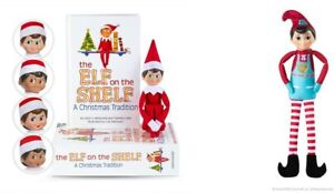 The Elf on the Shelf Boy, Light Tone, Blue Eyes plus Elf Mates Chef Doll