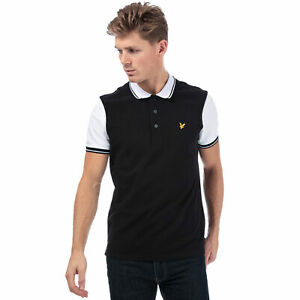 Lyle And Scott Polo Tipped Noir Blanc Homme