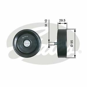 Gates 36419 DriveAlign SMOOTH Idler Pulley FOR Hyundai Accent Kia Rio