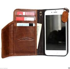 genuine real leather Case for apple iphone 6s book wallet cover premium magnet 6