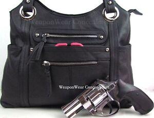 Concealment Purse Black Concealed Carry Holster Gun Conceal Purse #8