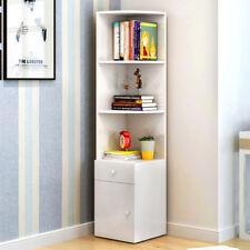Corner Shelf Bookcase Storage Unit 1 Drawer 1 Door Bookshelf Display Shelving