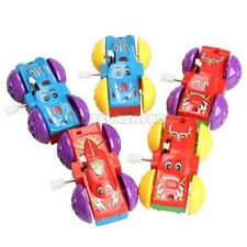 Kids Somersault Bounce Car Two-sided Pattern Clockwork Funny Toys Christmas Gift