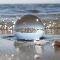 UK Crystal Clear Glass Healing Ball Photography Lens Ball Sphere Decoration Gift